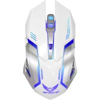 2.4G Wireless Optical Gaming Mouse Rechargeable 2400 DPI Computer Mouse with light for Mac Desktop Laptops
